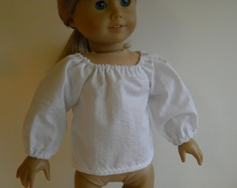 18 inch Doll Clothes fits American Girl - Just the Basics Solid Shirt  - You Pick Color