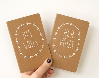 Wedding Vows Books - Custom Wedding Vows Keepsake