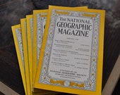 National Geographic magazine. One issue of NGS magazine. 1930s to 1950s.