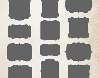 Frames 1 Cliparts (saved as vector files)