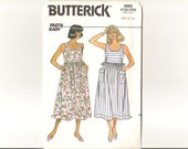 UNCUT Vintage Sundress or Jumper Butterick Pattern 3865 Sizes 12 to 16