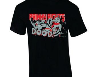 """Prinny Rights """"DOOD"""" Disgaia hand-printed T-shirt"""