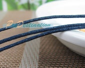 10M Navy Blue Wax Cord, Very Fine 1.5mm, Super Thin Rope Strand