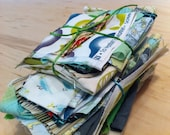 GREEN fabric bundle de-stash cloth pack lecien robert kaufman wyndham