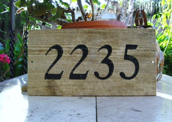 BARN WOOD Look PORCELAIN Tile 5.75 x 12 Custom House Numbers