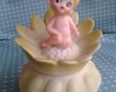 Vintage Fairy Baby trinket box