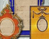 Faberge Photo Frames Number 2 Decoupage Picture Portrait  Old Antique Frames Digital Collage Sheet Download 178