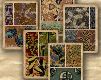 Art Deco Playing Cards Shabby Chic Deco Patterns DIY for Gift Card Swing Hang Tags ATC ACEO Digital Collage Sheet Download 416