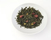Raspberry Orange Rhapsody Green Tea • 7 oz. Kraft Bag • Loose Leaf Blend w/ Fruit