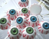 10 pcs of High Quality Creepy Funky Eyeball Cameo For Necklace Punk Goth Ring Jewellery Earring YJ001