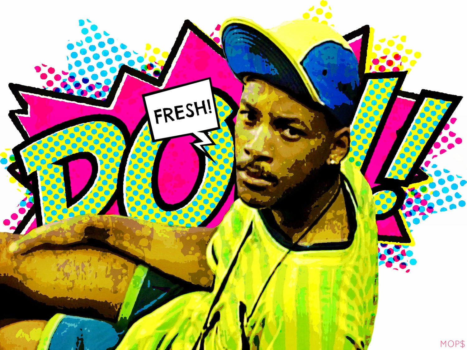 Fresh prince of bel air 8x10 digital illustration by for Fresh pictures