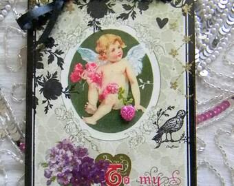 To My Valentine Cupid Decorative Valentine Plaque