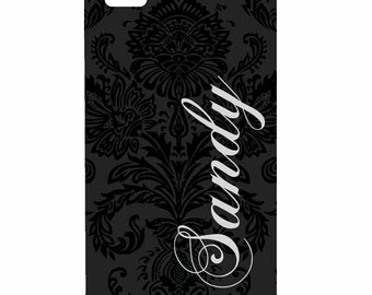 Samsung Galaxy s3, s4, s5 Note, or Note 2, Note 3 Personalized Damask Monogram