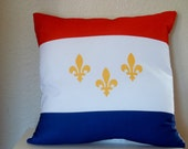 New Orleans Flag Pillow