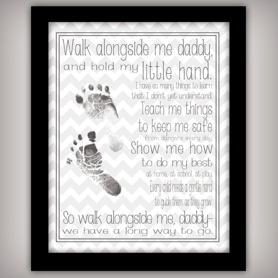 Invaluable image with walk with me daddy poem printable