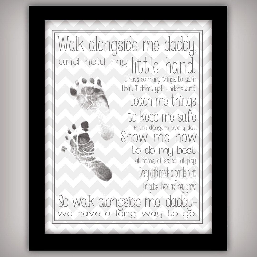 Walk Alongside Me Daddy 8x10 Digital Art Print Instant