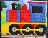 Train Quilt pattern with Multiple sizes: Wall, Crib, Lap/Twin