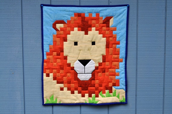 Lion quilt top pattern in 3 sizes : lion quilt pattern - Adamdwight.com