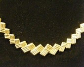 On Sale Vintage 1928 Gum Rapper Style Gold Chain Choker