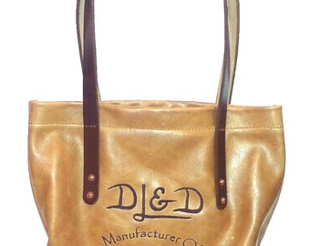 Large Leather Embroidered Market Tote