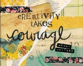 Creativity Takes Courage -  Inspirational Quote Typography 8x10Art Print