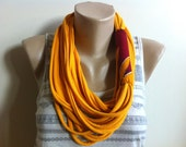 Scarf Necklace- Mustard & African Wax Print Scarflace