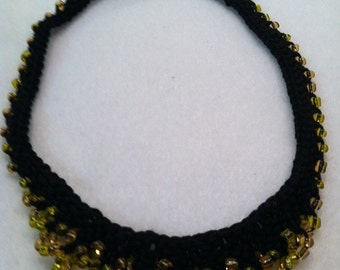 Gorgeous hand knitted beaded necklace