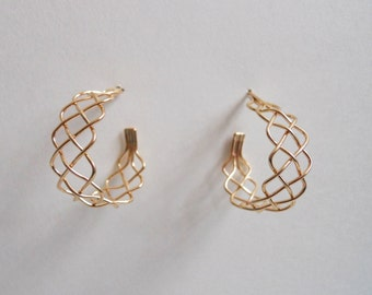 Braid Hoop Earrings 14k Gold Filled
