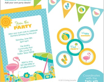 PRINTABLE Pool Party Collection