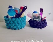 basket Crochet pattern box container - easy beginner PHOTO tutorial - bubble crochet box recipe for any side you prefer  - Instant DOWNLOAD