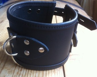 """RESERVED LISTING Leather Posture Collar 31/2"""" Straight Edge"""
