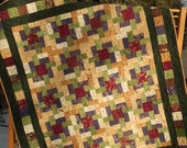 Quilt Pattern - The Woodsmen's Puzzle - Baby to King Sizes - Easy Layer Cake Pattern- Hard Copy Version
