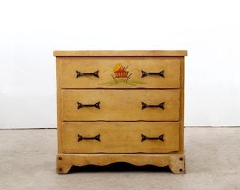 FREE SHIP 1940s Monterey Dresser, Vintage Dresser