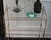 On Sale Vintage Made FRESH Brassy Bar Stand