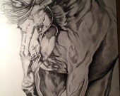 """Horse Drawing - """"Headed Home"""""""