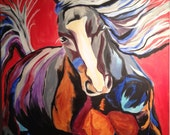 """Colorful Horse Painting - """"Thunder"""""""