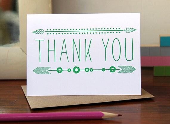 Leaf Thank You / Letterpress Printed Card