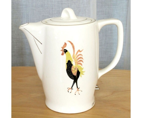 SALE Retro Rooster Teapot