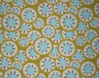 "Amy Butler Daisy Chain Kaleidescope dots lime  fabric 12"" X 42"""