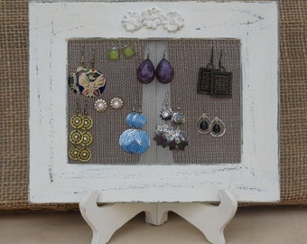 JEWELRY ORGANIZER HOLDER rack cream Shabby Chic