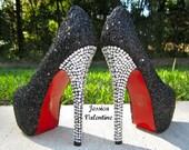 50 Shades Glitter Heels