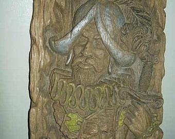 Old Norseman Sculpture On Corkwood