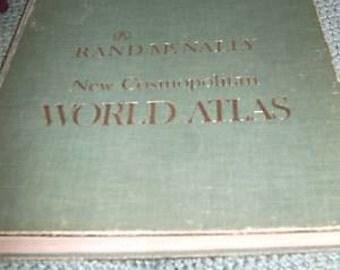 Rand Mcnally New Cosmopoltain World Atlas Book 1968