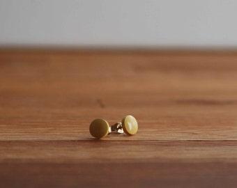 Sunburst Yellow Stud Earrings - Pierced Earrings - Sunshine Yellow - 14K G.F.