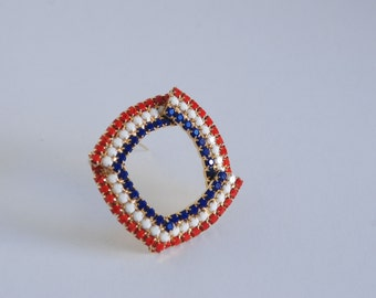 4th of July Brooch - Independence Day - Red White and Blue