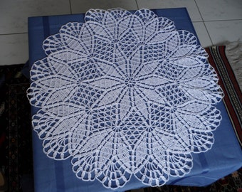 White handcrochet doily for your coffee table