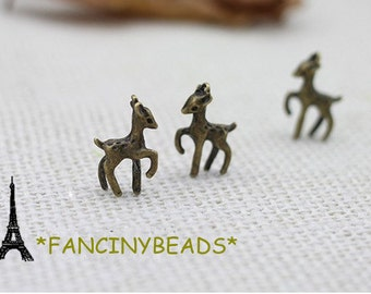 Wholesale cute deer charms-20 pcs-F719