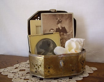 Sale - Vintage Brass Cricket Box // Brass Container