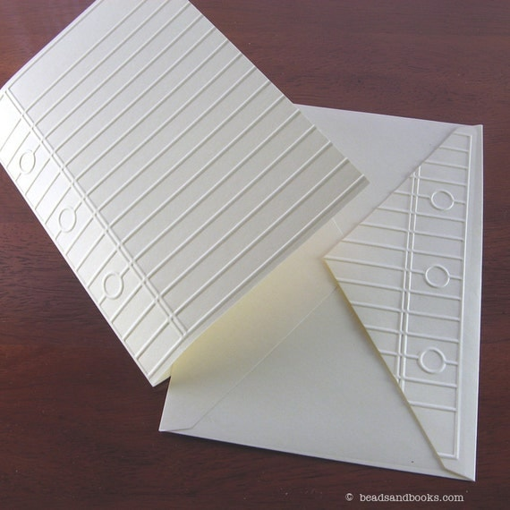 Notebook Paper Cards (Set on Discontinued Paper) - 50% Off Sale