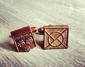 Grenoble - Vintage French Medal Cuff LInks - Repurposed - One of a Kind - Gift Bag